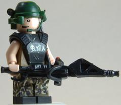 Aliens M56 Smart Gunner (Catsy [CC]) Tags: mod marine lego painted colonial aliens weapon minifig custom modification gunner bughunt smartgun catsy m56 brickarms flickr:user=catsy lego:scale=minifig