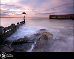 Seaton Sluice Harbour Entrance (f22 Digital Imaging) Tags: uk sunset sea england sky seascape beach clouds canon newcastle landscape eos coast pier europe tide sigma northumberland northeast canoneos blyth tyneandwear sigma1020mm northeastengland 450d canon450d canoneos450d britishseascapes sigma1020mm1456exdchsm amazinglandscapesuk f22digitalimaging