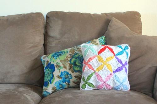 Quilt Inspired Crochet Pillow Pattern