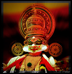 When I lost words to describe what I saw... (saternal) Tags: green art colors kali kerala kathi palakkad kathakali saternal spiritofphotography