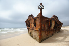 Maheno Wreck (stevoarnold) Tags: sea beach boat sand rust waves buried australia shipwreck fraserisland maheno blogtravel