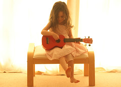 Beautiful (*k a t i e*) Tags: feet girl beautiful hair toddler moments child ukulele little guitar peaceful curls mimi magical guitarist canoneos400ddigital kp73 katiepetef tinylittleguitar