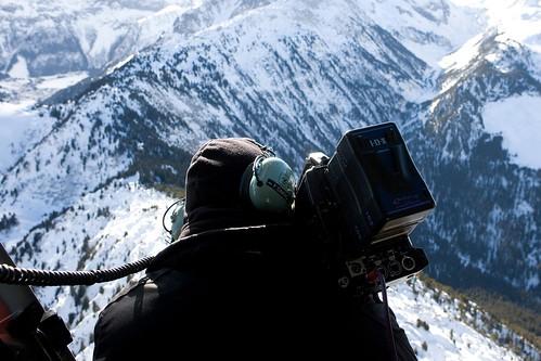 Michel benjamin dans les alpes pour eurocopter