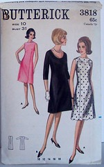 Vintage Butterick Pattern 3818 A- Line 60 Jackie O Style Dress Size 10 Bust 31 Waist 24 Hip 33 (Sassy By Design) Tags: she vintage flickr pattern sewing cast etsy size10 alinedress bust31 waist24 hip33 sassybydesign princessseaming butterick3818