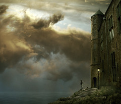 soon (Mattijn) Tags: sea castle rock cat waiting hoody photomontage melancholy mattijn soon vianen