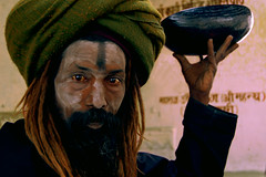 Aghori (Adam Peleg) Tags: portrait india beard death skull ashes varanasi ash ritual sect dreadlock ganga cannibal holyman ganges cremation benares aghori aghora uttarpardesh aghoris
