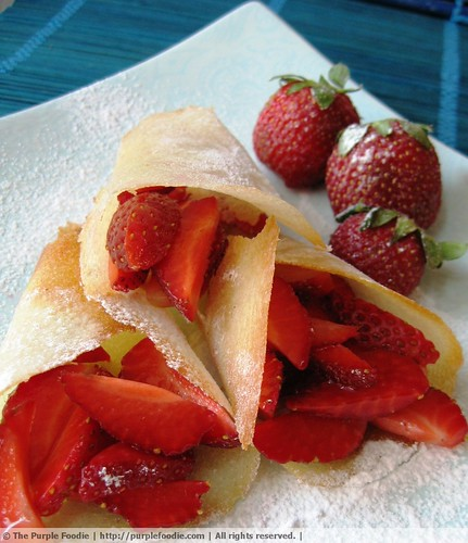 Strawberry Tuile