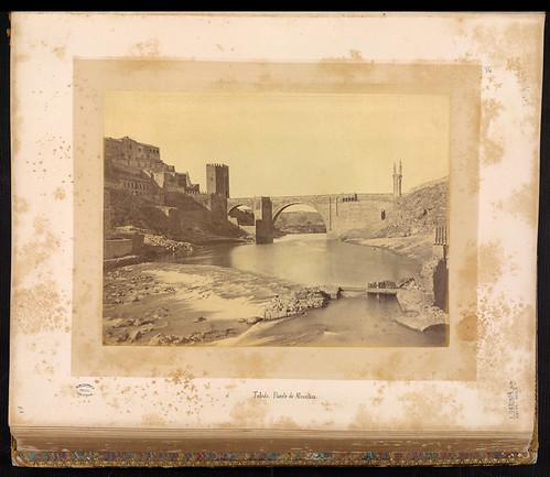 Puente de Alcántara en el siglo XIX. Foto Jean Laurent. Biblioteca Nacional de Brasil