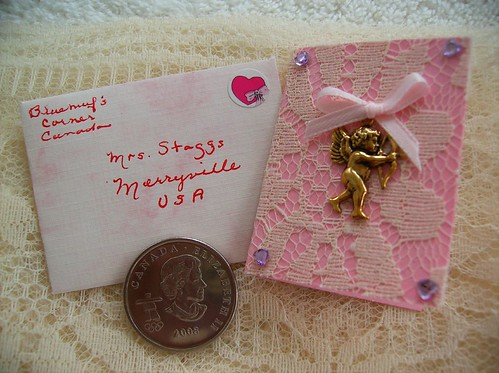Mini Valentine card and envelope