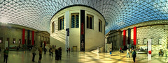 Great Court in the British Museum, London (UK) (Panoramyx) Tags: uk greatbritain panorama london museum unitedkingdom panoramica londres british museo londra hdr britnico royaumeuni blueribbonwinner granbretaa