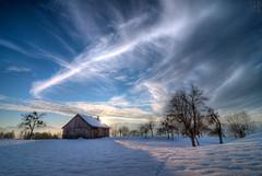 winter dream on christmas eve (gregor H) Tags: christmas blue winter sunset sky snow backlight clouds landscape austria dream christmaseve rheintal vorarlberg furx pprowinner goinguptothesky