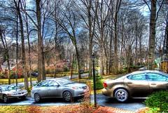 Thornwood HDR (Dave DiCello) Tags: cars forest photoshop lens outdoors evening nikon nissan cs2 tripod pontiac nikkor c2 hdr 18mm photomatix d40 tonemapped d40x evad310 davedicello