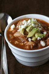 Pulled Pork and White Bean Chili side
