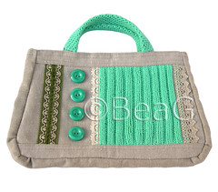 Handbag 'Green Stitches' (Handtas) (Made by BeaG) Tags: original green vintage creativity design artist belgium designer handmade lace buttons unique oneofakind ooak sewing kunst crochet belgi canvas creation purse recycle trim handbag sewn unica reuse reclaim unicum repurpose innovative handtas beag innovatief knitwork kunstenares uniquedesign ontwerpster uniquebags originaldesigner greenstitches zipperedpocket creativedesigner magneticclosure vintagematerials uniquebag designedandmadebybeag uniekontwerp ontworpenengemaaktdoorbeag unieketas unieketassen