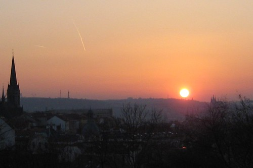 Sunset over Prague