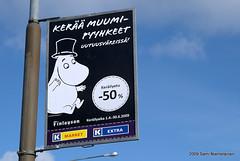 Moomit - Moomins (s.niemelainen) Tags: suomi finland commercial muumi moomins joensuu advertise mainos kkauppa muumit