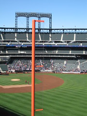 Top of Foul Pole (talialeone) Tags: newyorkcity field baseball queens workout mets ballpark mlb newyorkmets citi foulpole preseason nymets citifield april52009 metsworkout