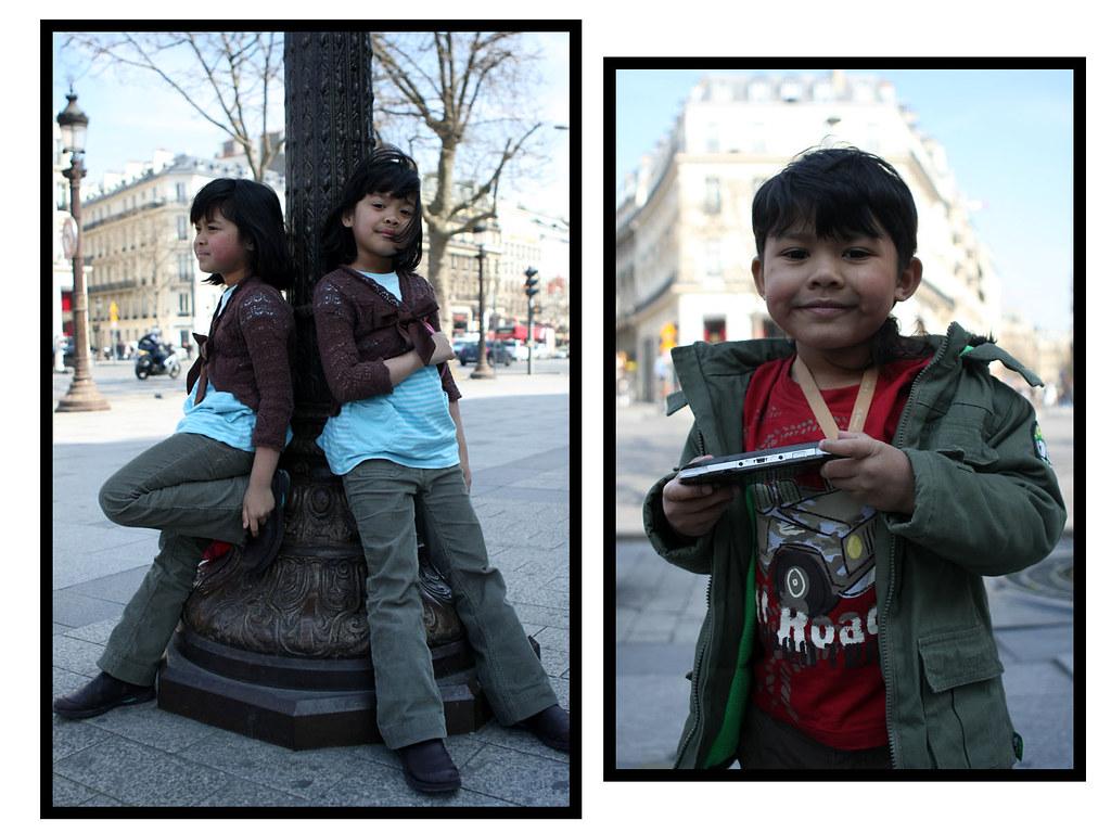 twin girls in Paris