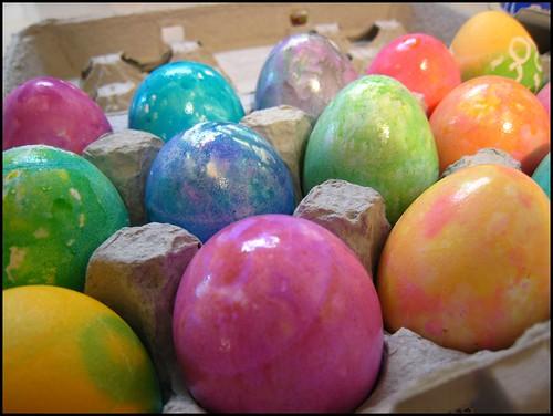 Easter eggs - tie dye