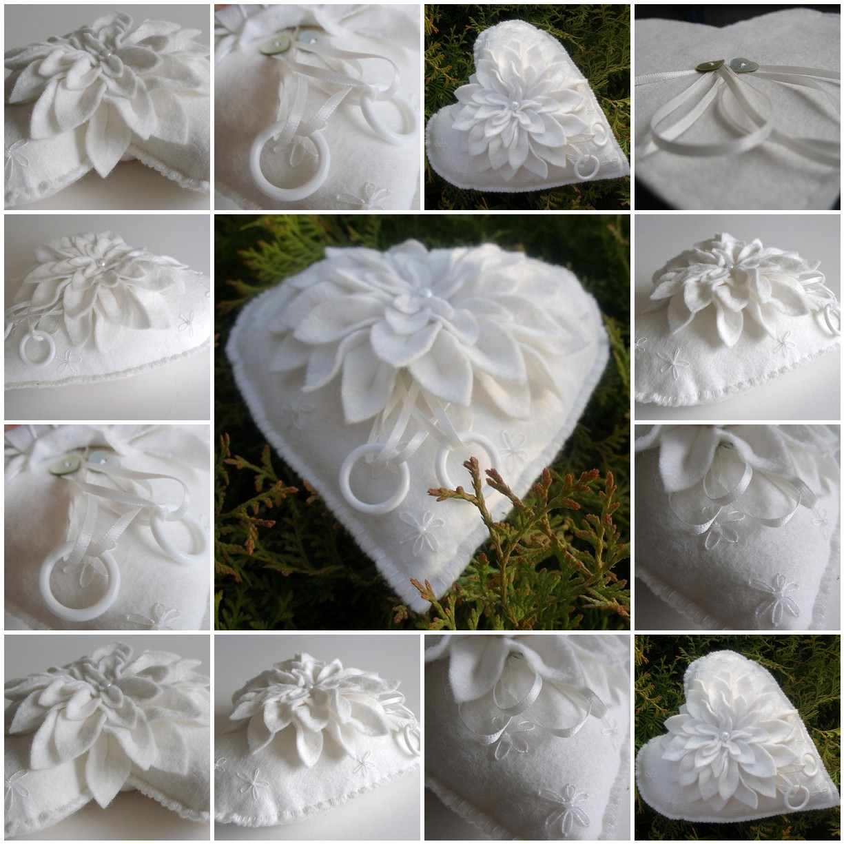 Felt wedding pillow