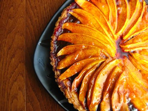 mango berry tart.