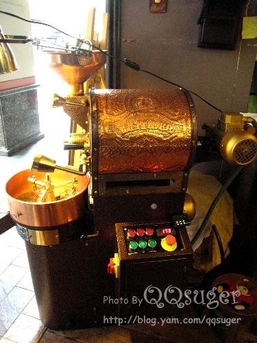 你拍攝的 烘豆機。