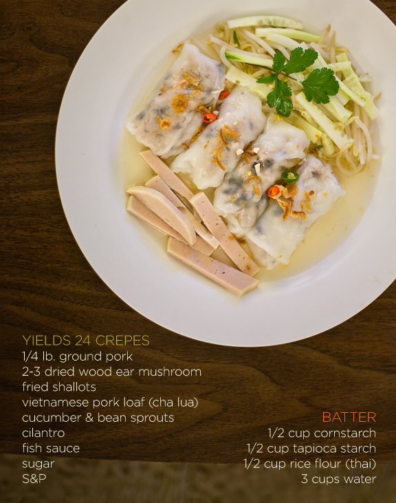 Banh Cuon - Vietnamese Rolled Rice Crepes