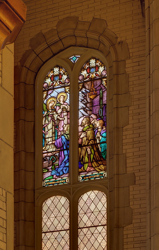 Former Daughters of Charity chapel, at the University of Missouri - Saint Louis, in Normandy, Missouri, USA - stained glass window 3