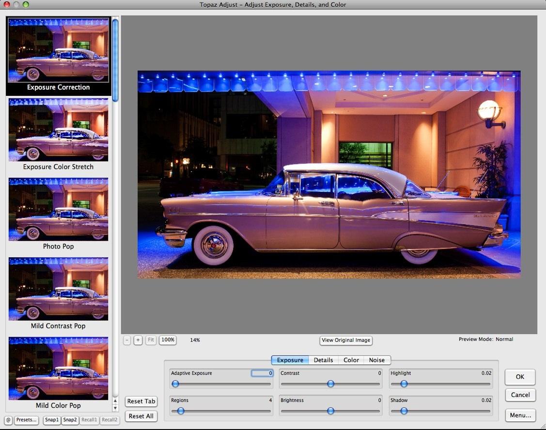 Topaz Adjust - Adjust Exposure, Details, and Color