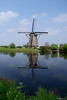 Mill reflection (Anja Timmermans) Tags: reflection mill sony alpha reflexions kinderdijk molen reflectie a300