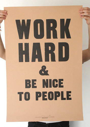 Anthony Burrill poster