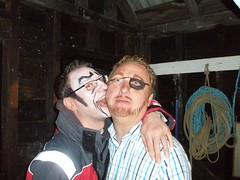 Bruce and Graeme, painted faces