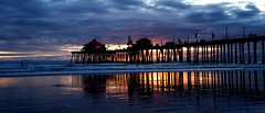 reflections at hb pier (jst images) Tags: california ca reflection beach water clouds pier sand waves oc huntingtonbeach hb justimages jasontockey jstimages