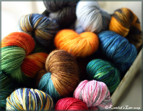 hand dyed sock yarn box
