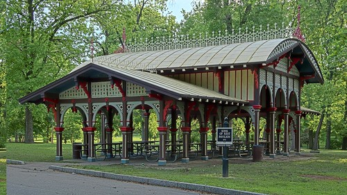 Tower Grove Park, in Saint Louis, Missouri, USA - Sons of Rest Pavilion