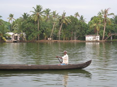 Fisherman on the canal (rheabeddoenyc) Tags: india kerala backwaters alleppey
