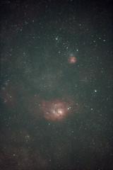 M-8 (fishonkevin) Tags: nebula astrophotography m8 nightsky milkyway m20 starfield lagoonnebula trifidnebula Astrometrydotnet:status=solved modifiedcanon foxparkobservatory foxparkpublicobservatory canonastro Astrometrydotnet:version=11264 sagittariusregion astrowidefield Astrometrydotnet:id=alpha20090582753158