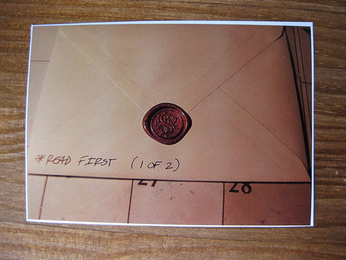 Step-by-step photo tutorial on using sealing wax, step 7