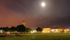 Full Moon over Stanford (Jill Clardy) Tags: light moon tower drive university lawn quad palm full explore trail stanford 100views hoover 500views palo alto hdr 1000 1000views npw 0609 photomatix explored 2009jillclardy