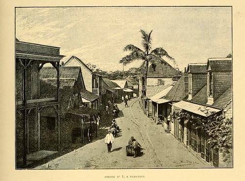 001-Avda. nº 1 en Tamatave-Madagascar finales del siglo XIX