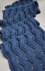 Lace Ribbon Scarf (clementintje) Tags: scarf knitting lace knit knits knitty laceribbonscarf