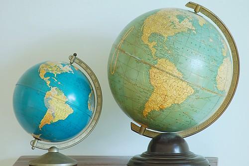 Mama globe and baby globe.