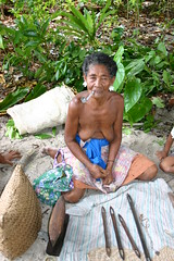 Selling a Few Artifacts (U Jay) Tags: polynesia solomonislands tikopia polynesiandance polynesianoutliers