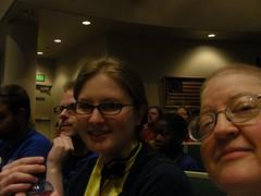 Three livebloggers all in a row: John Aronno (Alaska Commons), Heather James (SOSAnchorage.net), and Mel Green (Henkimaa)