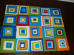 baby quilt in progress (QuiltingPo) Tags: baby colorful quilt squares primary drunklove wonkysquares deniseschmidt
