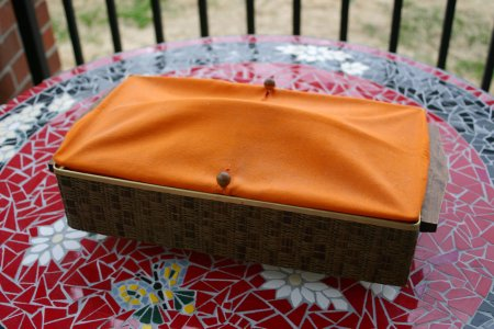 Vintage Orange Bun Warmer