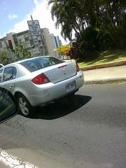 Ran through a red light on Ala Wai Blvd