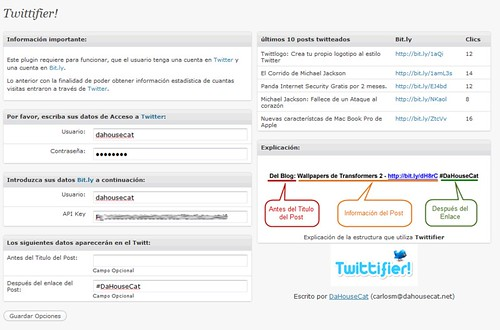 twittifier plugin wordpress twitter