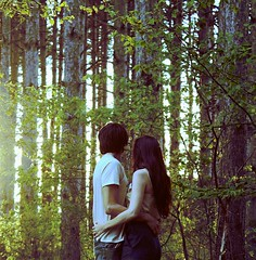 40/365. (karrah.kobus) Tags: trees sunlight love forest self woods couple natural anniversary together 365 distance hold