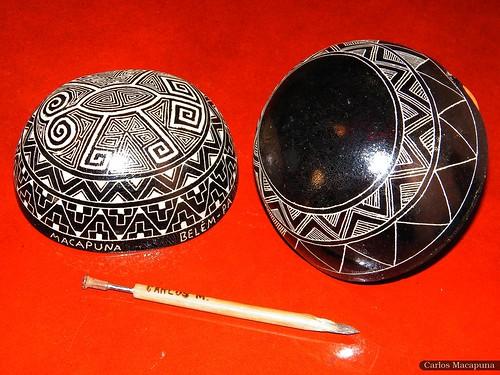 Quando eu era artesão... (Grafismo indígena em cuias)